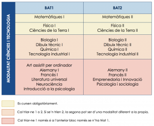 Estructura curricular científic i tecnològic
