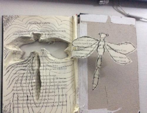 Intervenció artística de llibres a Batxillerat