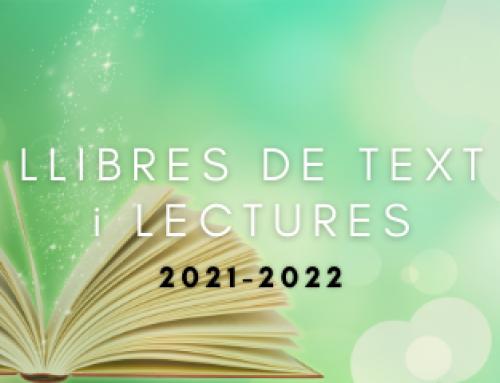 Instruccions llibres de text i lectures 2021-2022