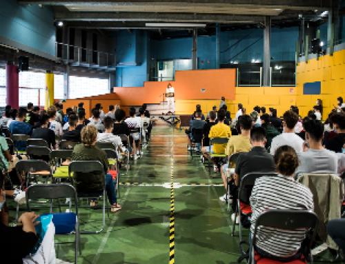 Borràs inaugura el curs acadèmic 2021-2022 de la Formació Professional de l'Escola Pia Santa Anna Mataró